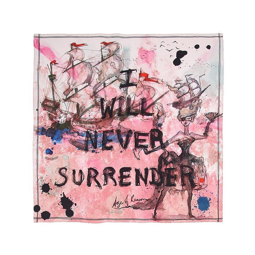 Never surrender scarf
