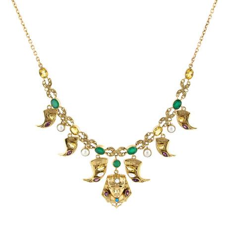 Pharaoh Arabesque necklace