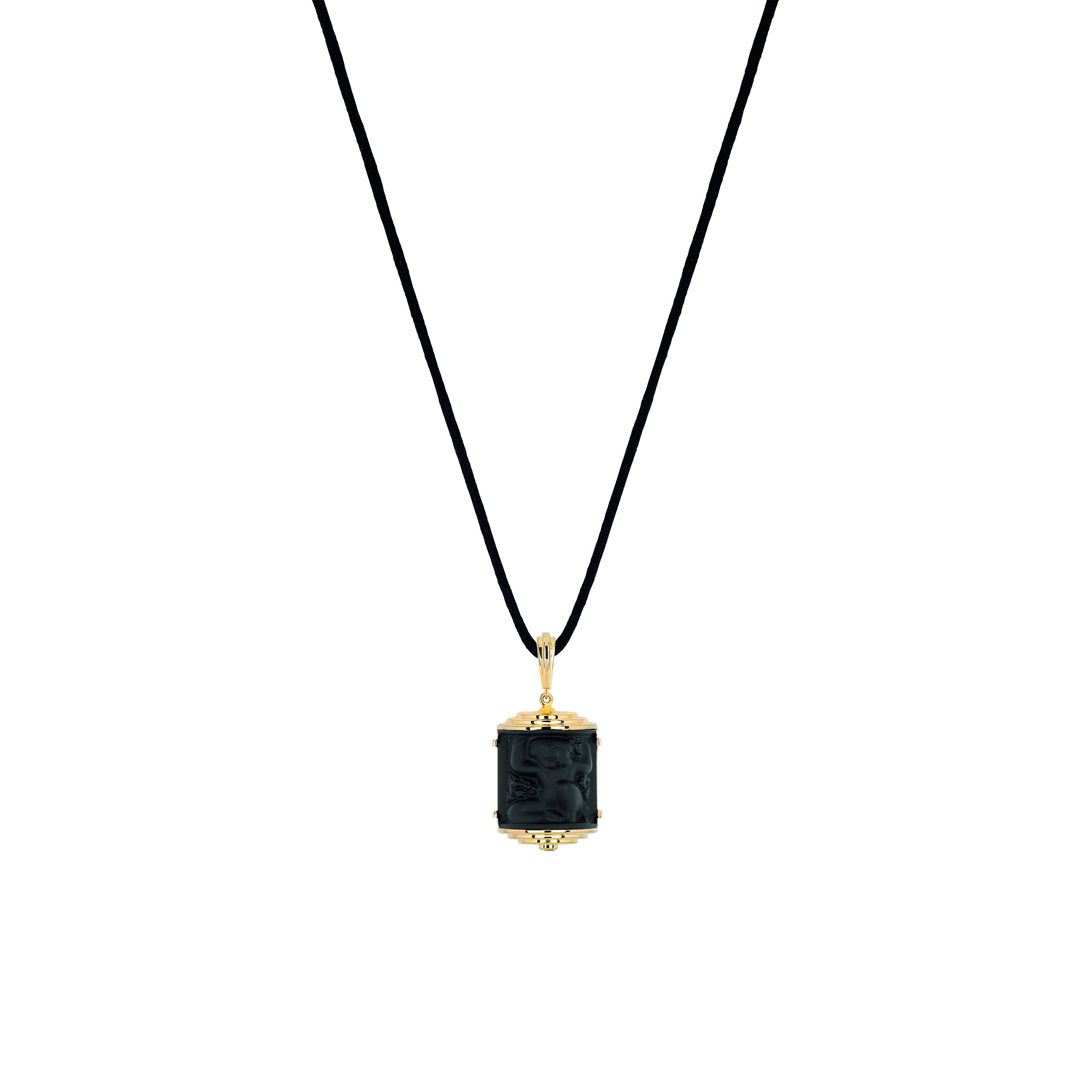 Nysa vermeil and crystal pendant necklace