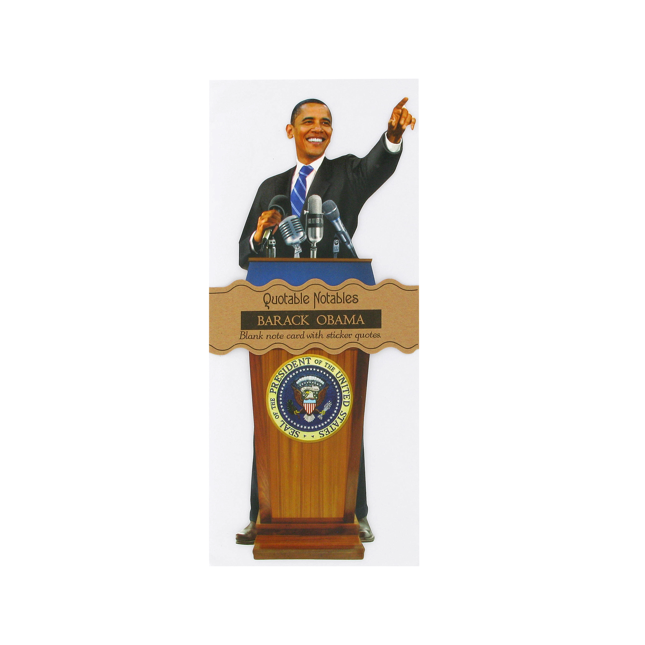 Obama quotes greeting card