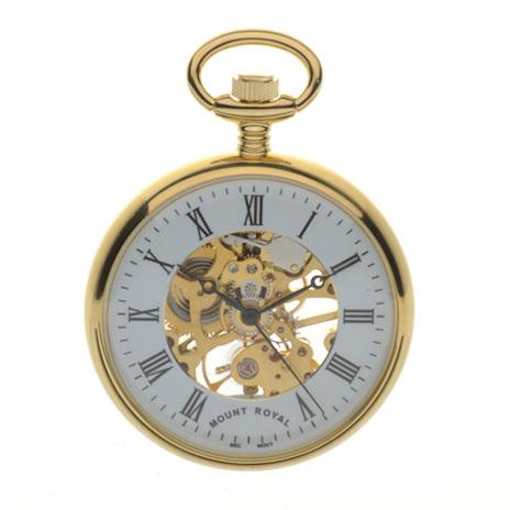 Open Dial pocket watch