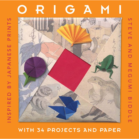 Origami inspired by Japanese prints