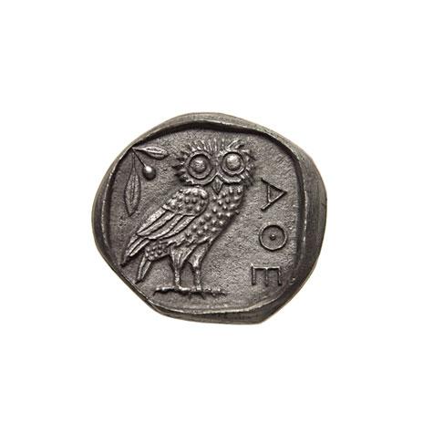 Greek Owl Coin ornament