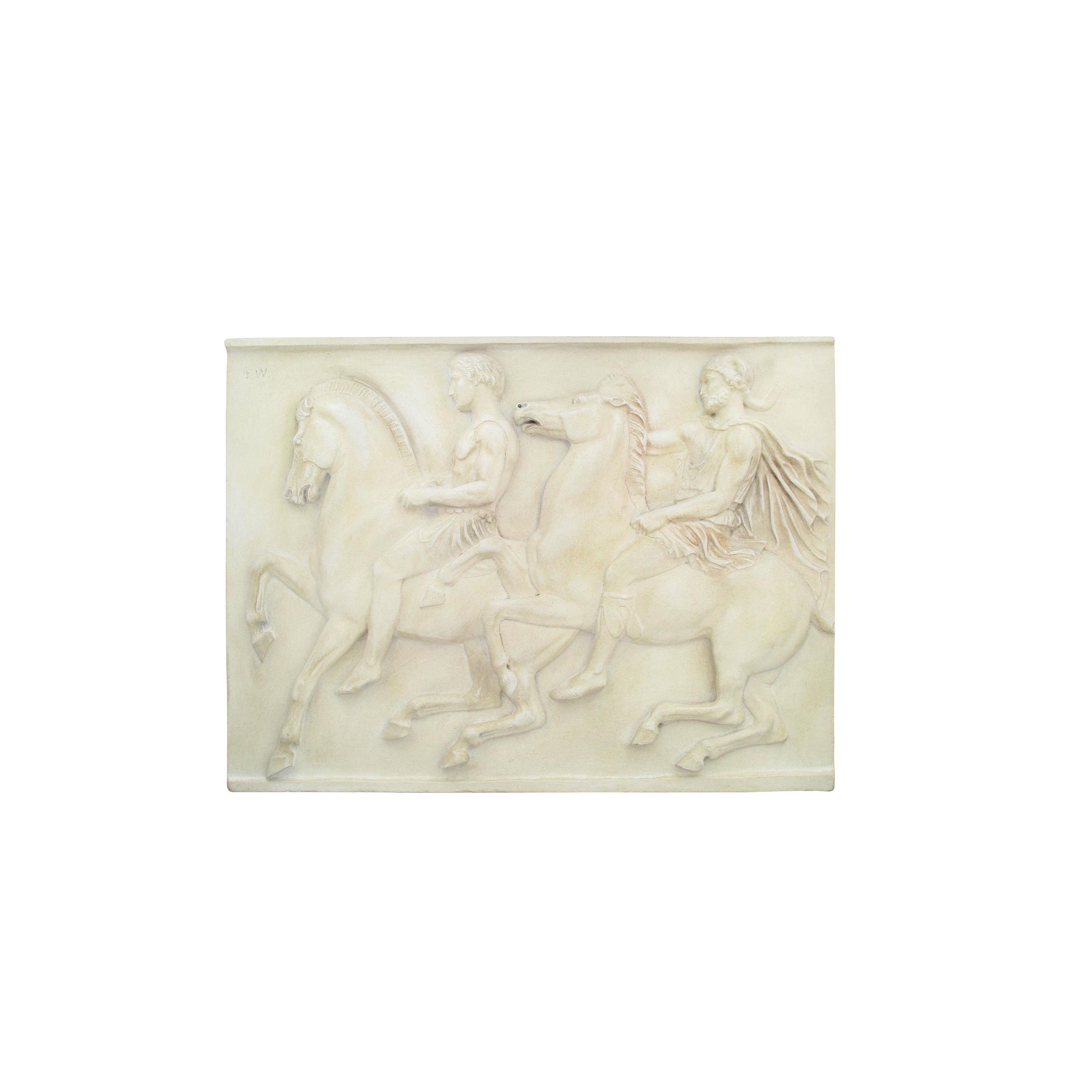 Parthenon sculpture plaque: Pair of horsemen