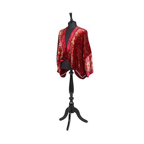 Paisley and floral jacket (red)