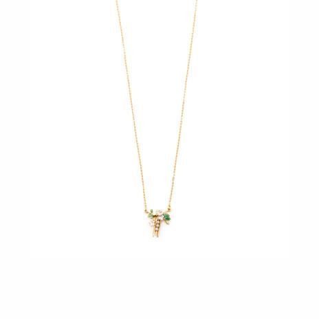 Peapod pendant necklace