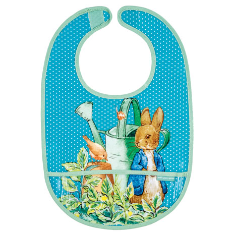 Peter Rabbit bib (blue)