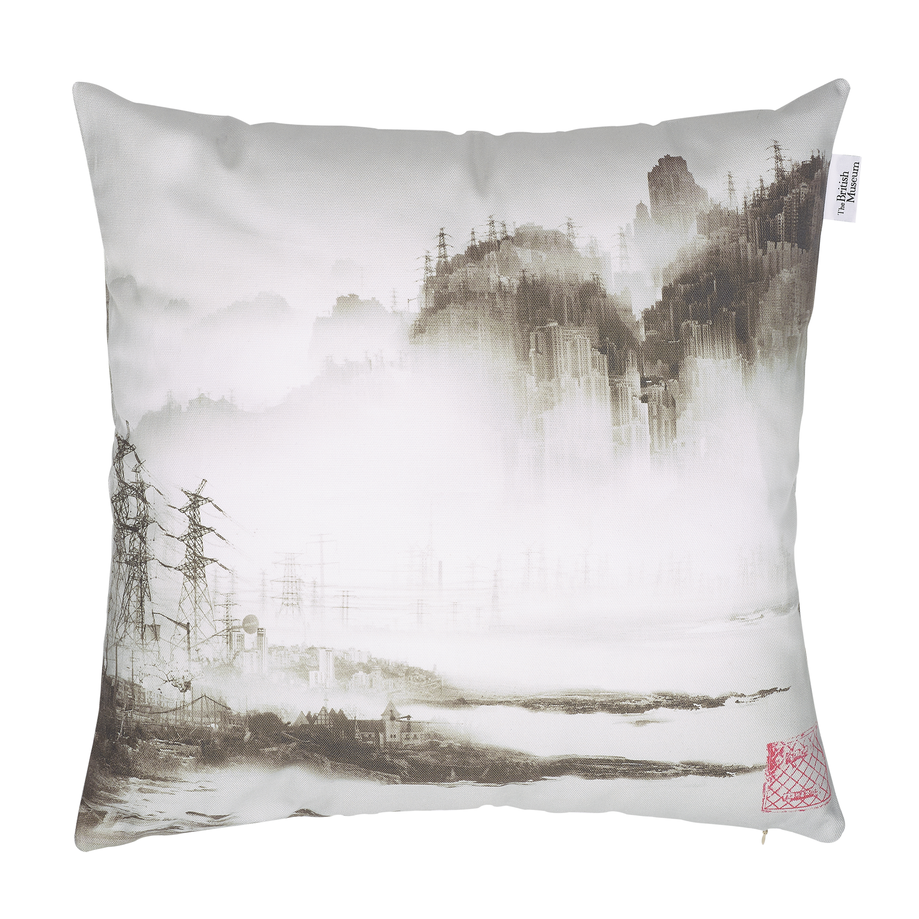Phantom landscape cushion cover