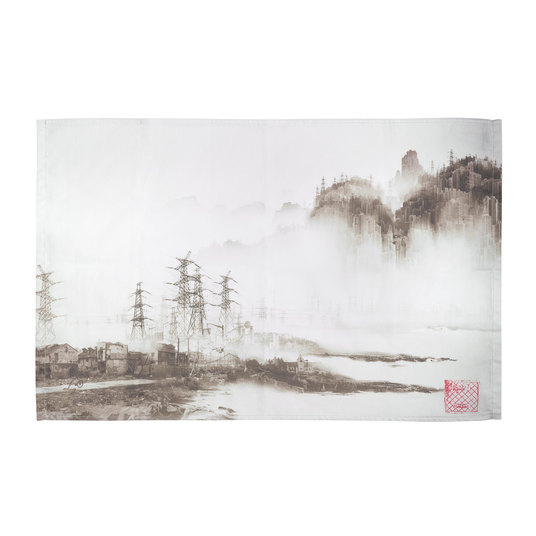 Phantom landscape tea towel