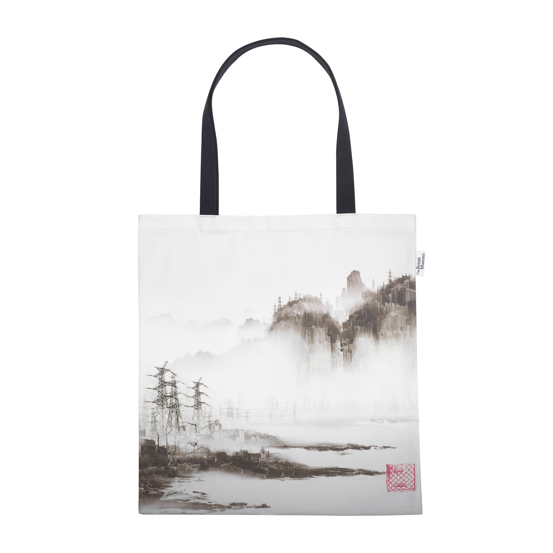 Phantom landscape tote bag