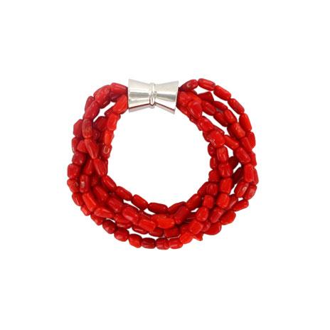 Coral strands bracelet