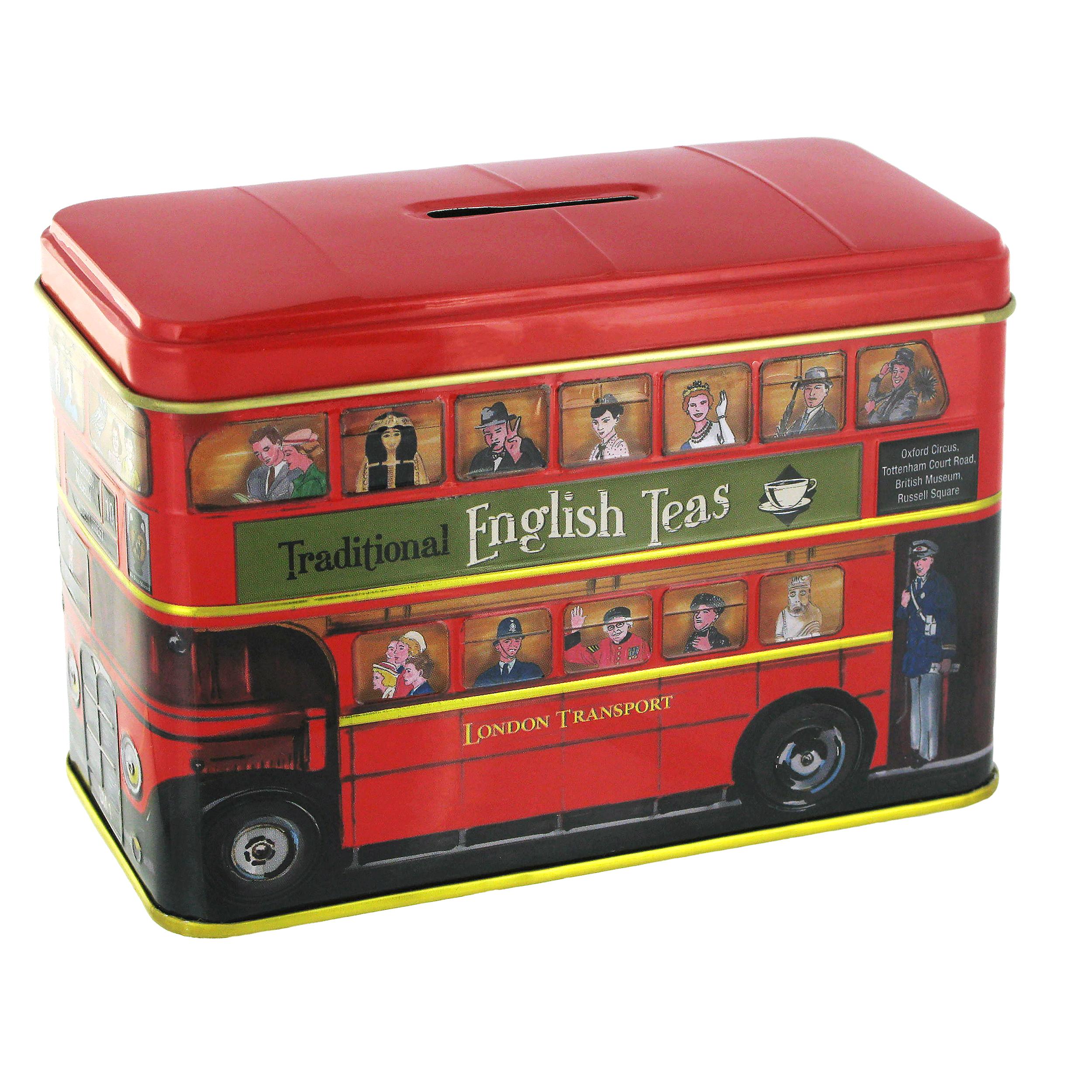 London bus caddy with English tea