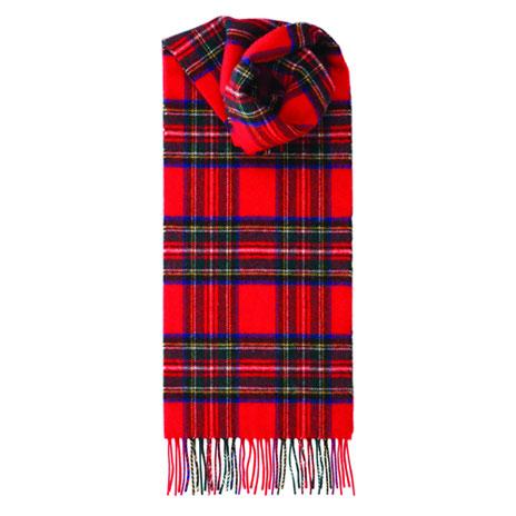 Tartan scarf (red)