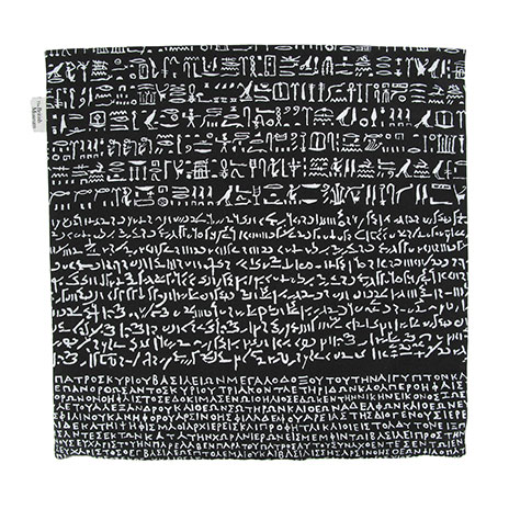 Rosetta Stone cushion cover