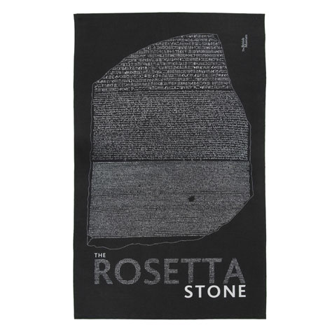 Rosetta Stone tea towel