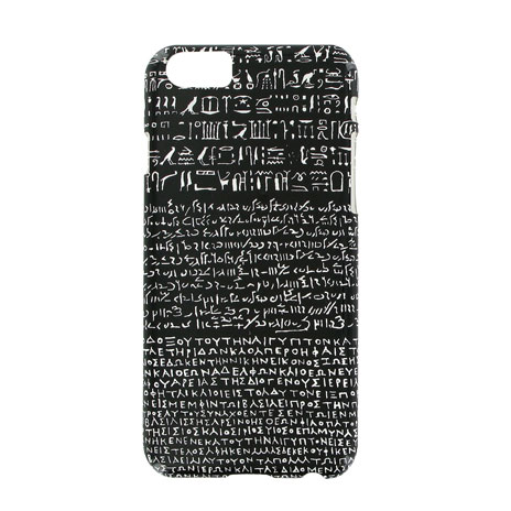 Black Rosetta Stone iPhone 6 case