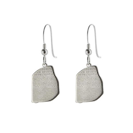 Rosetta Stone drop earrings
