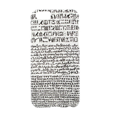 White Rosetta Stone iPhone 6 case