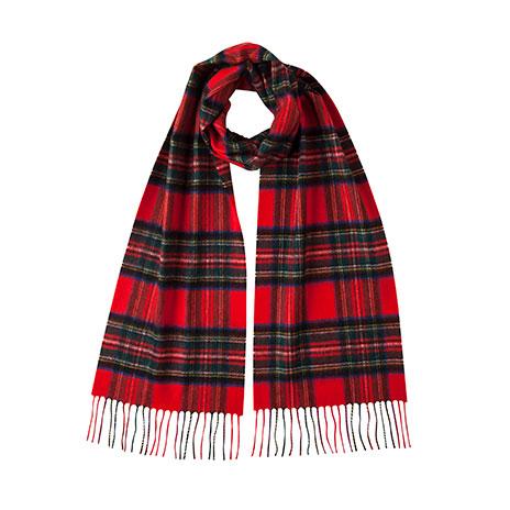 Royal Stewart tartan cashmere scarf