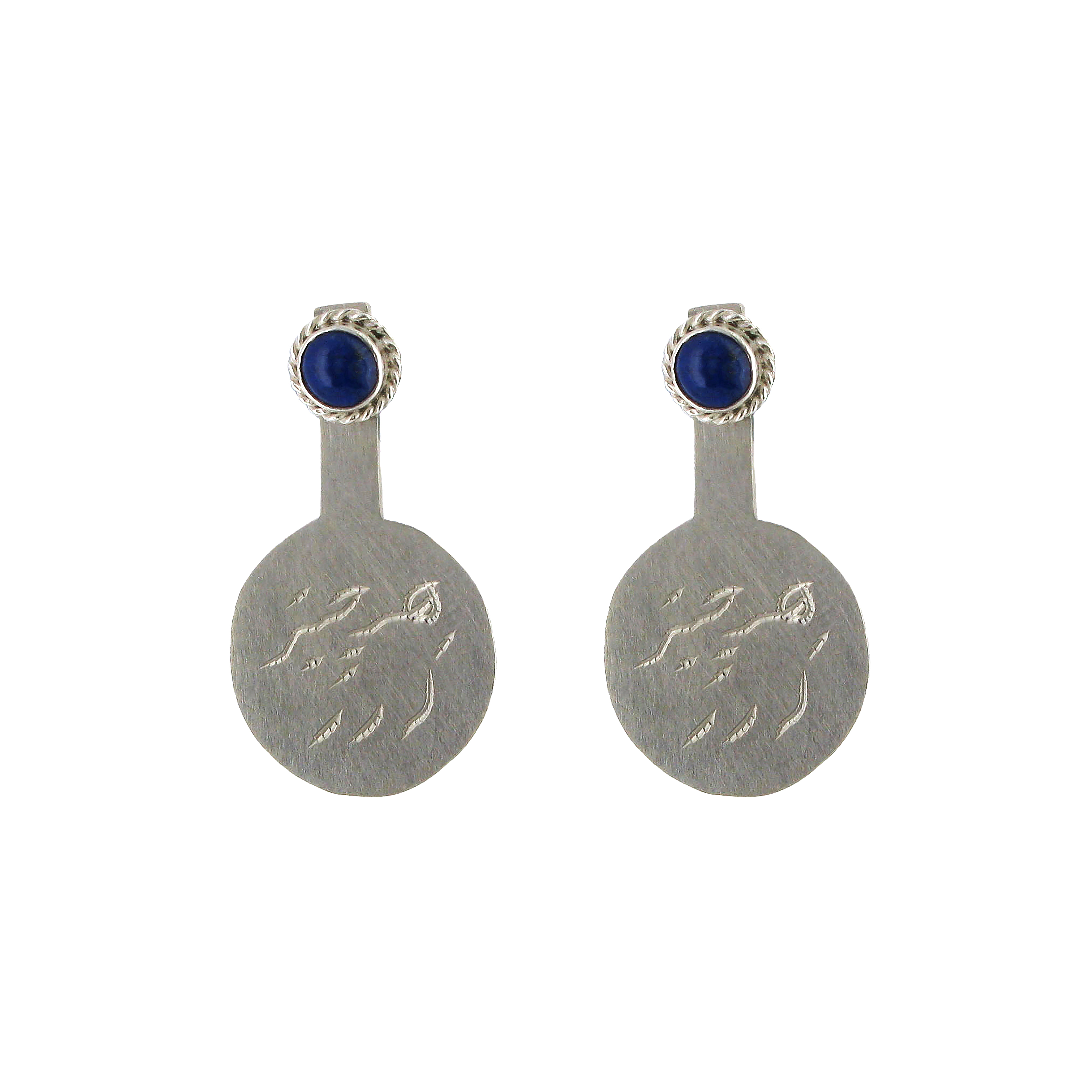 Rumi silver and lapis earrings
