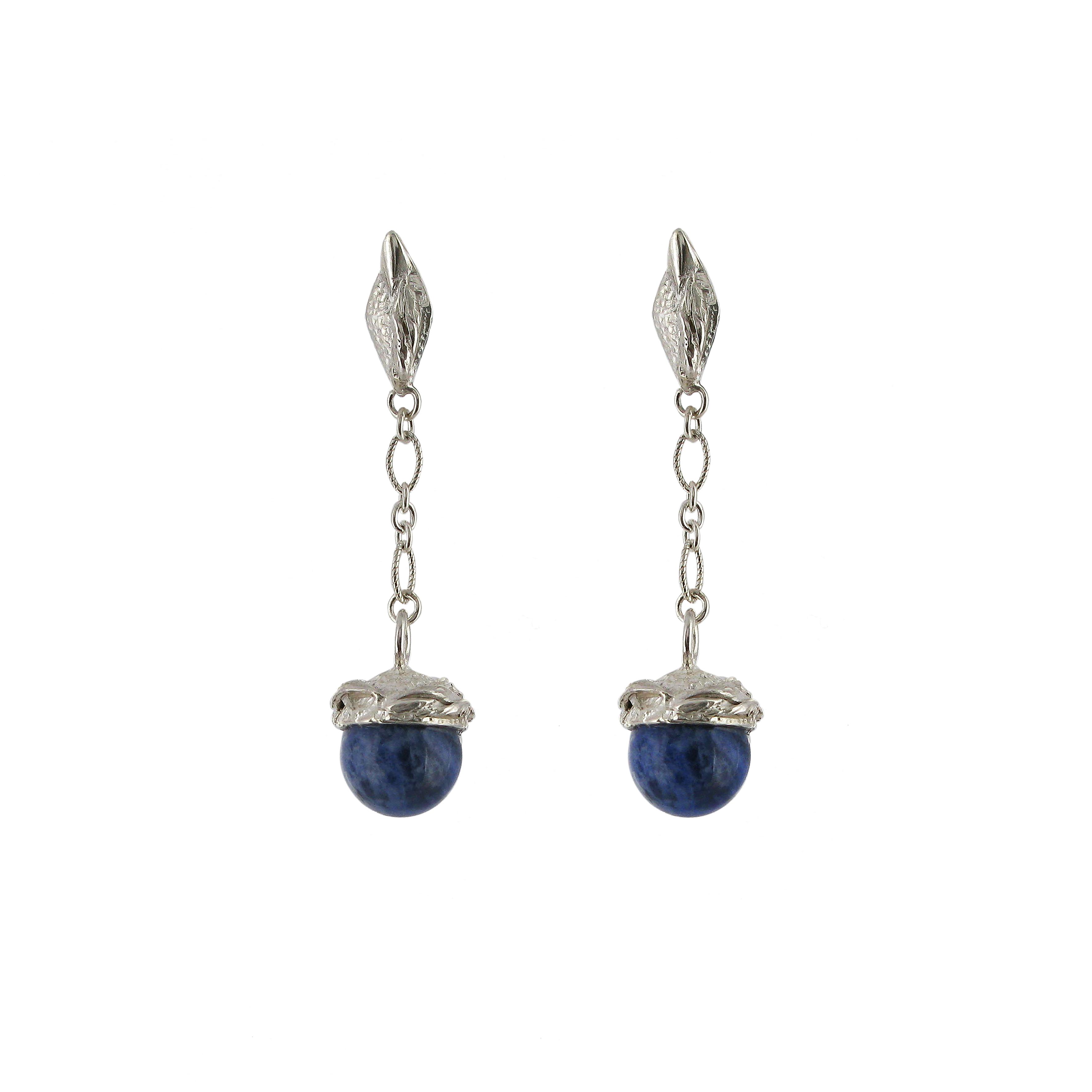 Seascape sodalite drop earrings