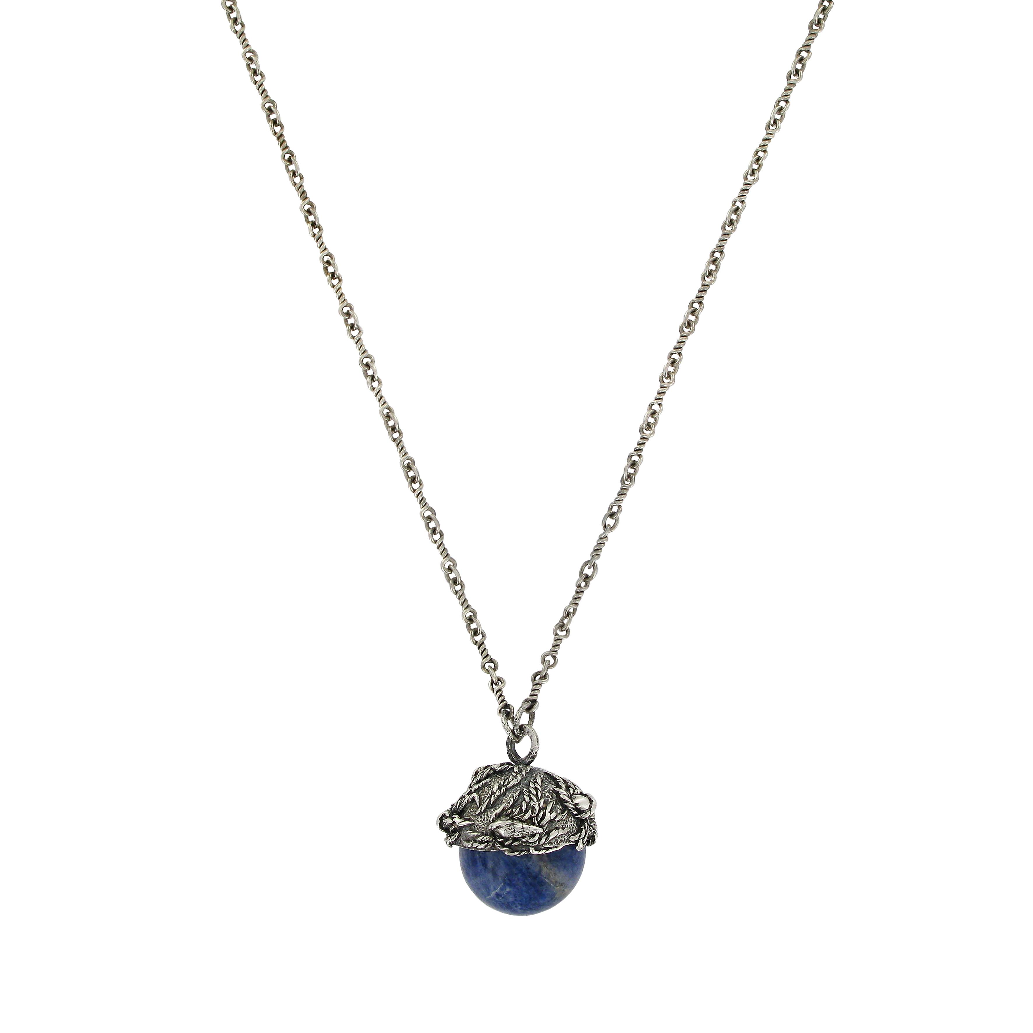 Seascape sodalite pendant necklace