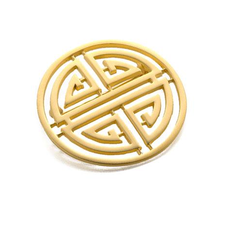 Shou Symbol brooch