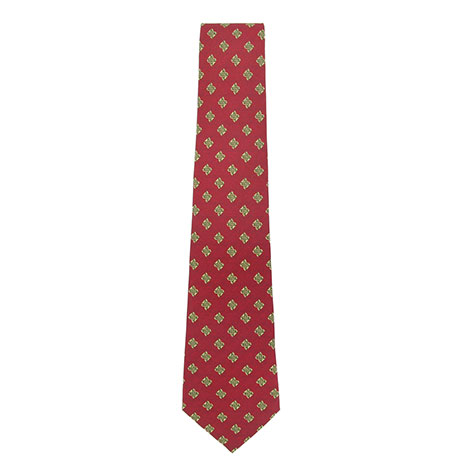 Silk celtic tie red