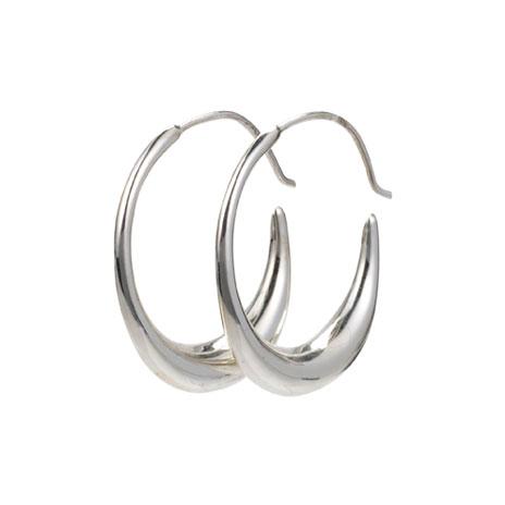 Persian hoop earrings (silver)