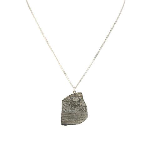 Rosetta Stone silver necklace