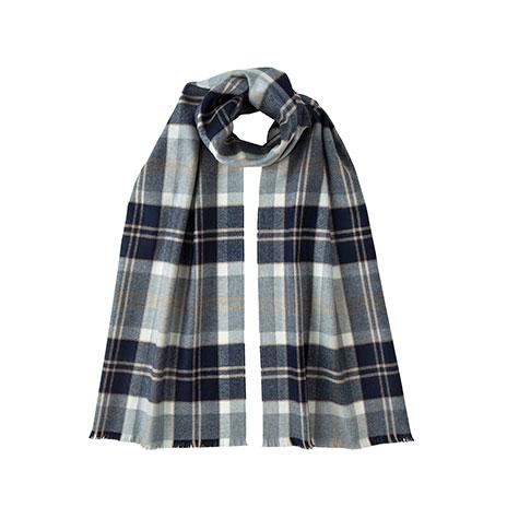Silver bannockbane tartan narrow scarf