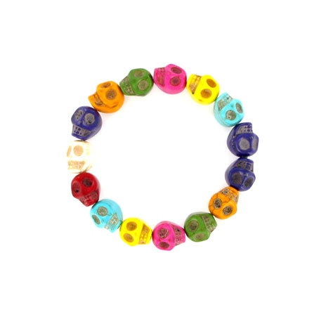 Skull bracelet (multicoloured)