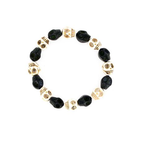 Skull bracelet (black & white)
