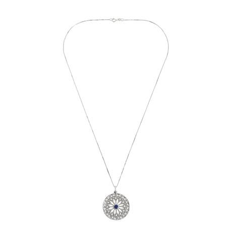 Small filigree pendant necklace