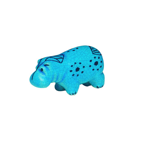 Egyptian turquoise figurine (Small hippo)