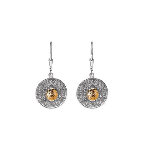 Small silver celtic warrior earrings