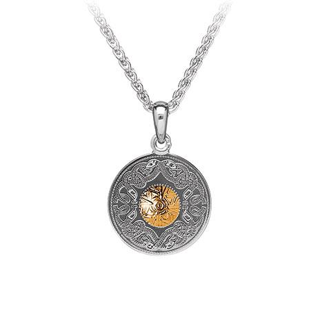Small silver celtic warrior pendant