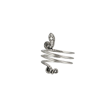 Snake triple coil ring (silver)