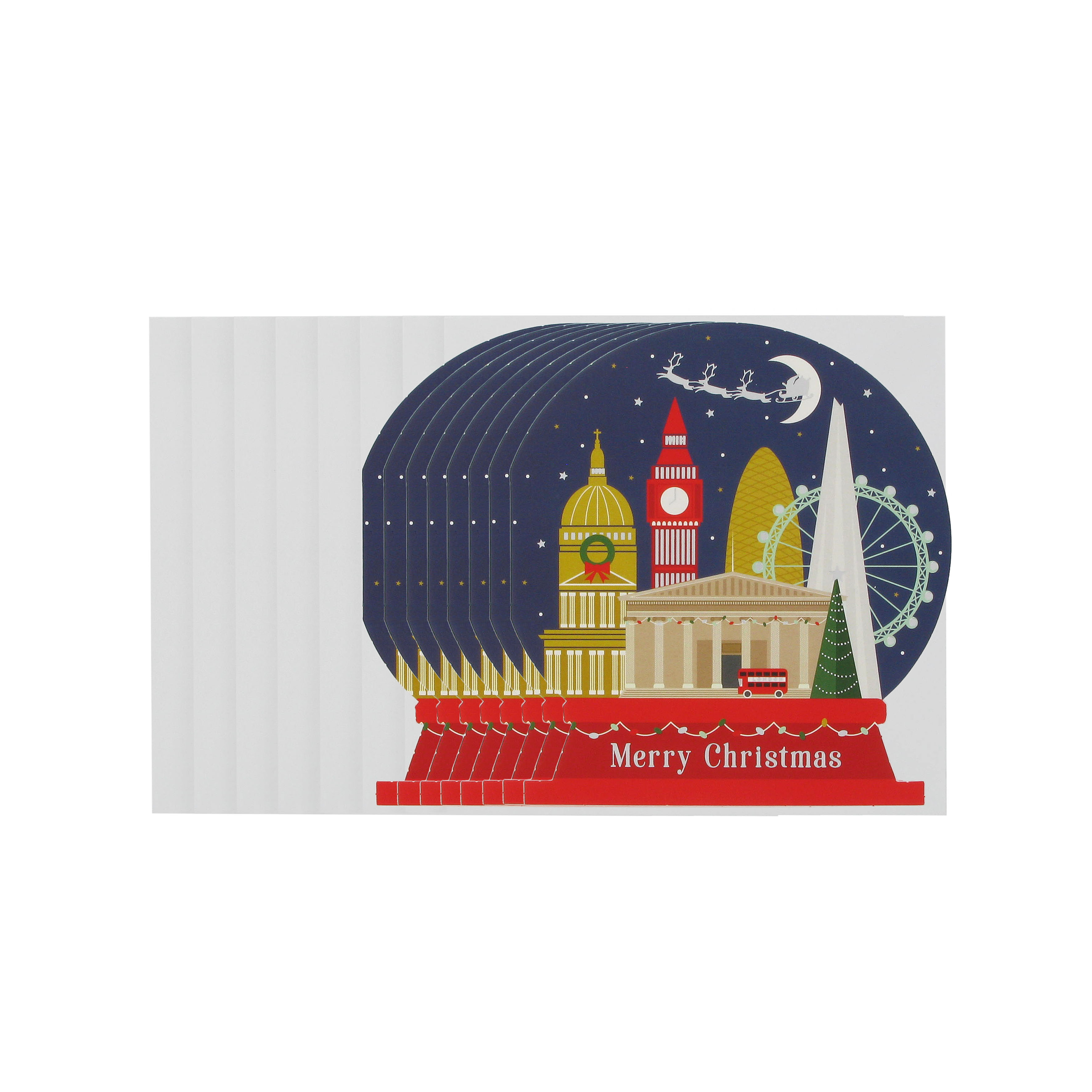 Snowglobe Christmas cards