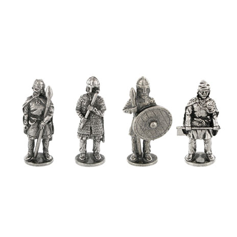 Viking Soldiers miniature replicas (set of 4)