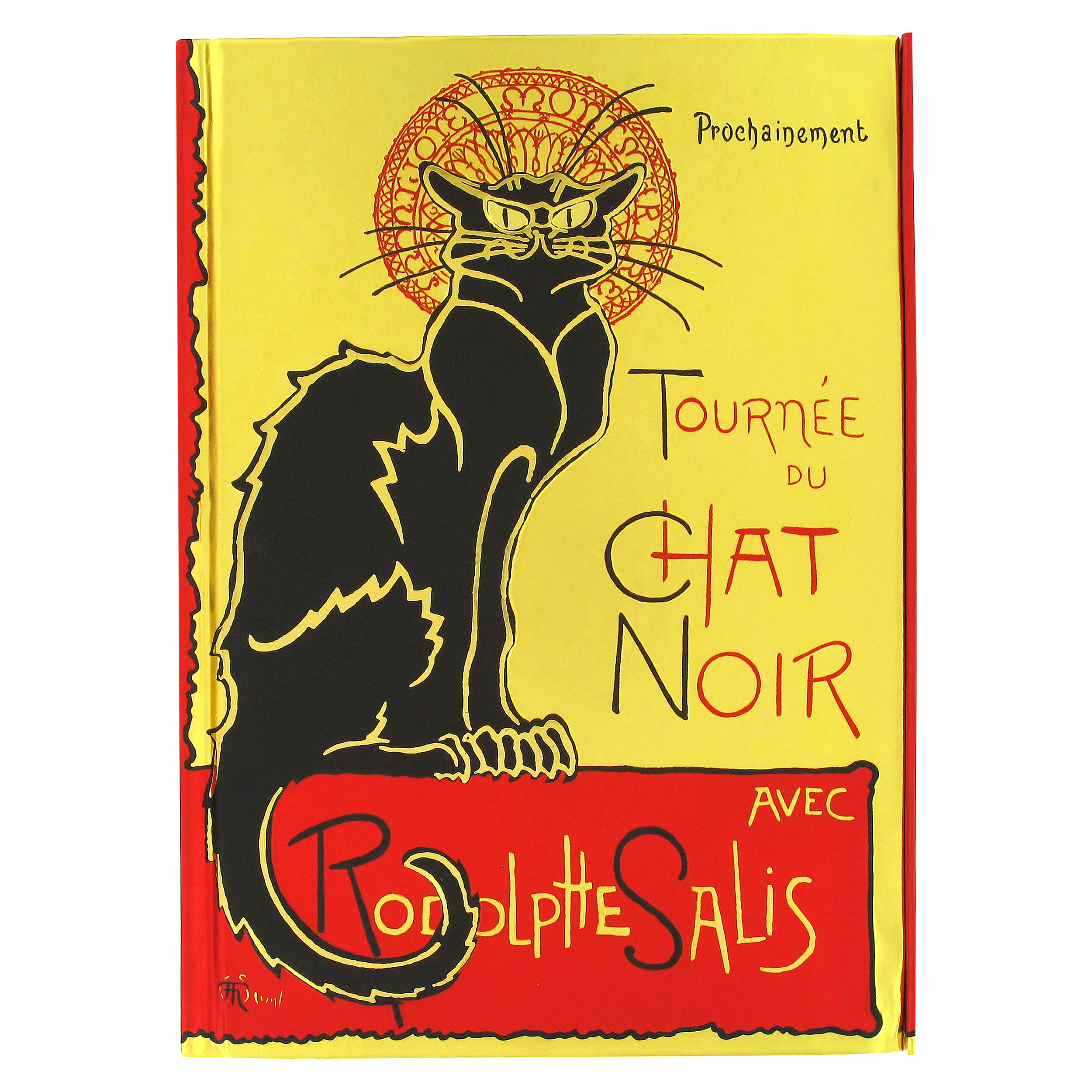 Steinlen: Tournee du Chat Noir foiled notebook