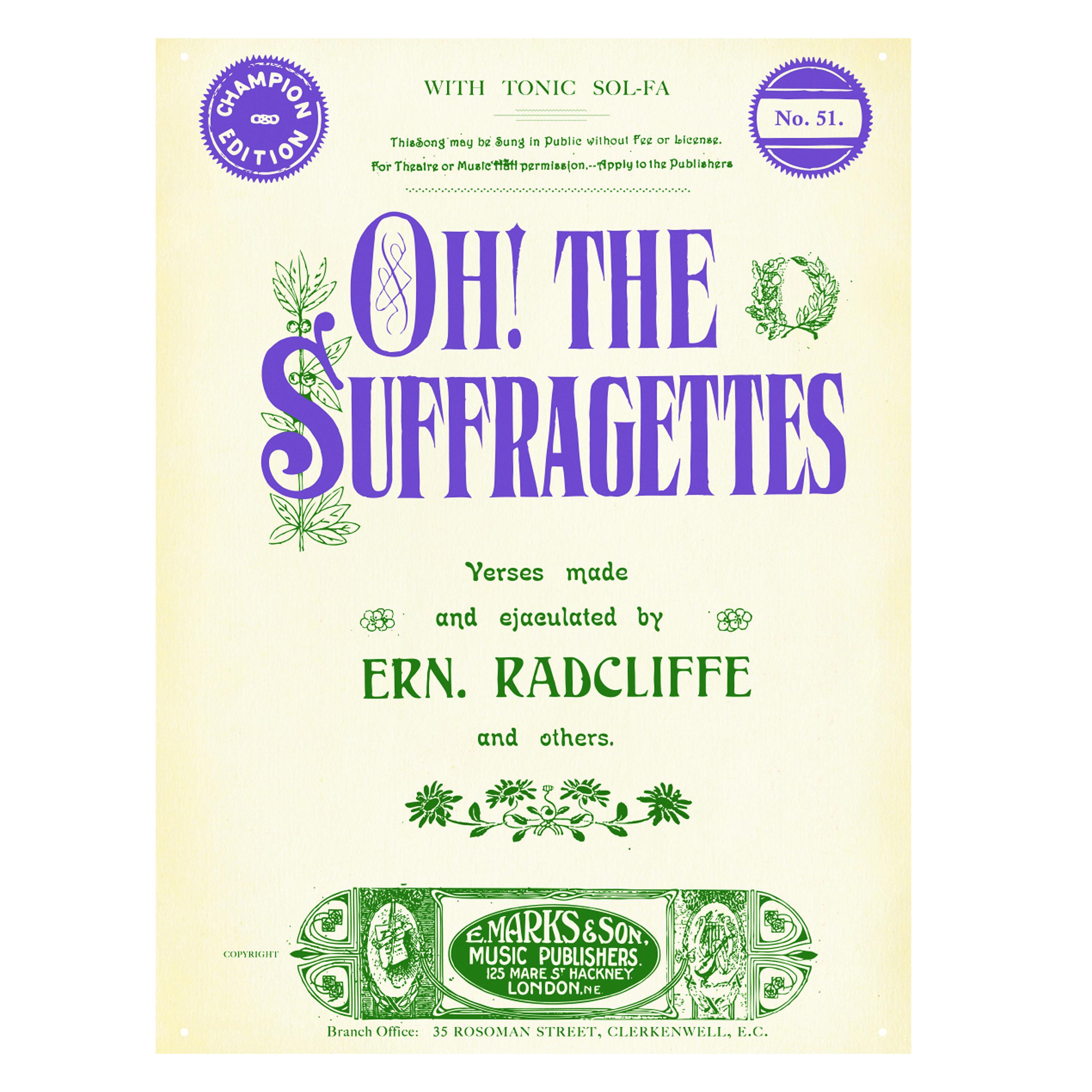 Suffragette movement tin