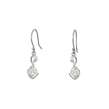 Swan drop earrings
