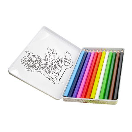 Peter Rabbit colouring pencils tin