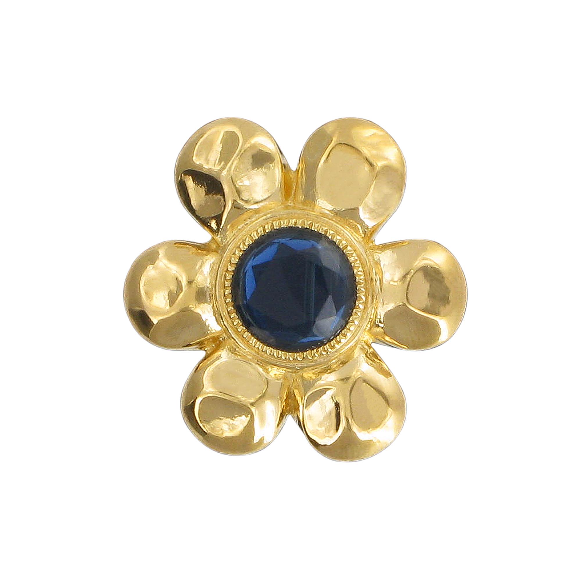 Temple flower brooch