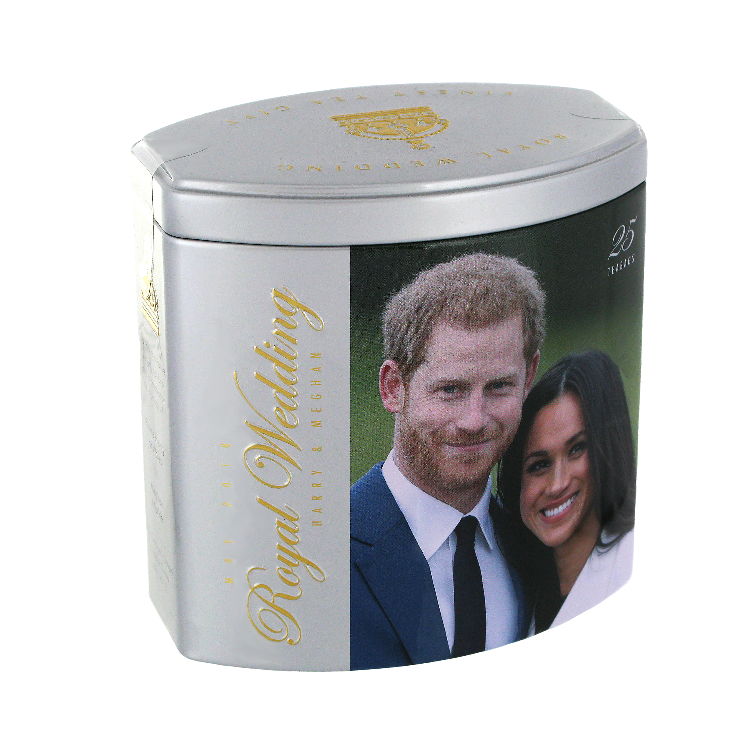 The Duke and Duchess of Sussex tea caddy