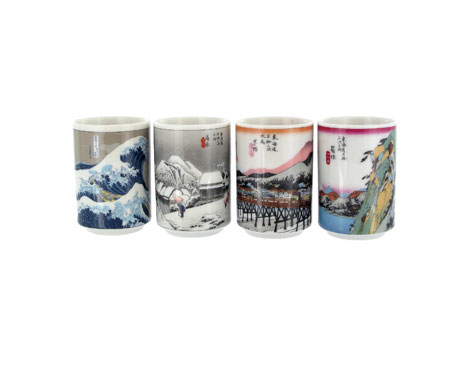 Tokaido tea cups, set of 4
