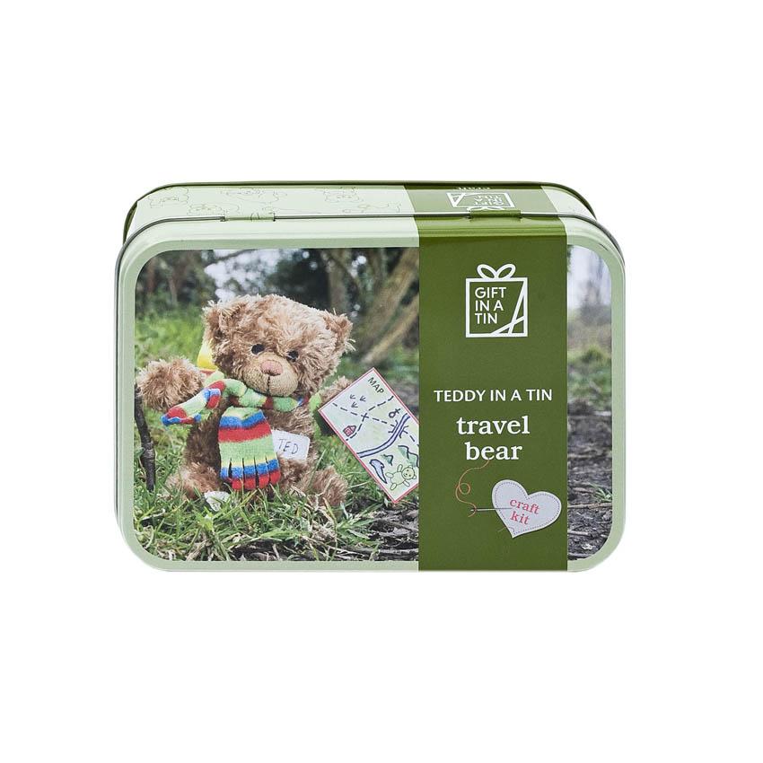 Travel bear in a tin