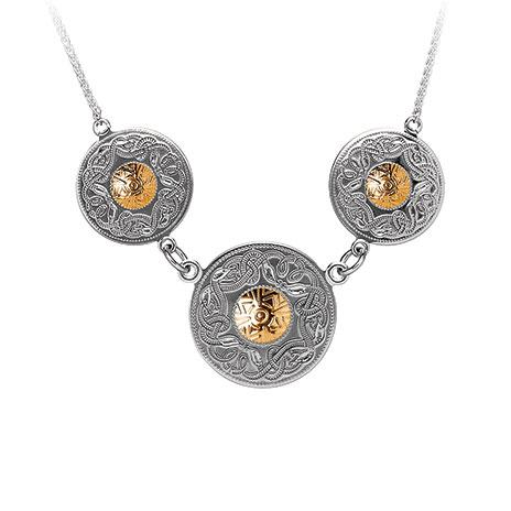 Triple celtic warrior pendant