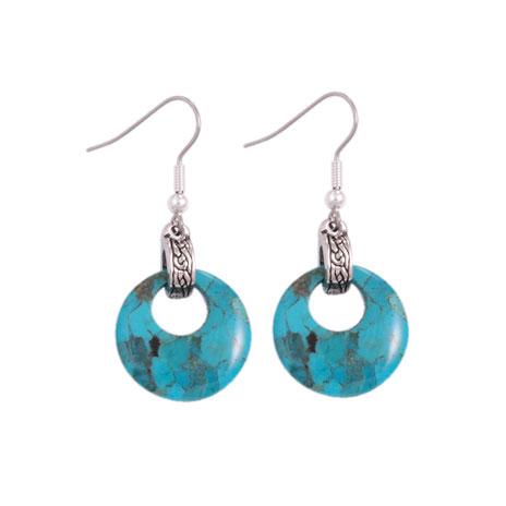 Turquoise Circle earrings